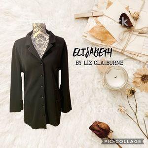 💕2for25 💕 Liz Claiborne black button up sweater